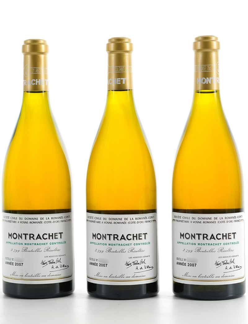 Lot 824: 3 bottles 2007 DRC Montrachet