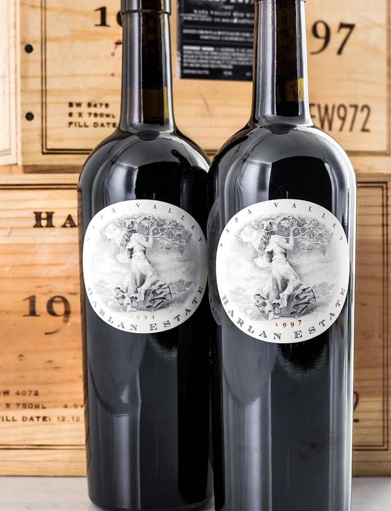 Lot 962, 965: 6 bottles each 1994 and 1997 Harlan Estate Red in OWC